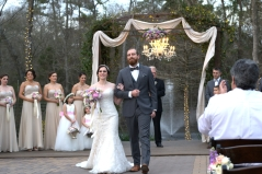 Anthony and Nicole Clarkson getting married at the Carriage House in Conroe Texas